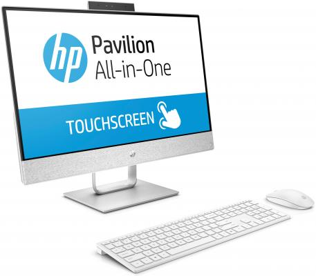 "Моноблок 23.8"" HP 24-x070ur 1920 x 1080 Touch screen Intel Core i7-7700T 16Gb 1Tb + 128 SSD Radeon 530 2048 Мб Windows 10 Home белый 3ES10EA"