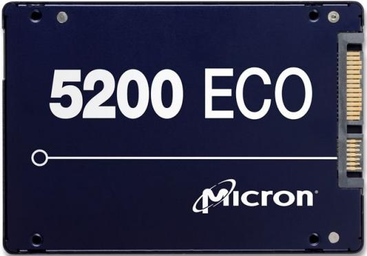 Твердотельный накопитель SSD 2.5 960Gb Crucial Micron 5200ECO Read 540Mb/s Write 520Mb/s SATA MTFDDAK960TDC-1AT1ZABYY накопитель ssd crucial micron 960gb 5100pro ssd sata 2 5 mtfddak960tcb 1ar1zabyy