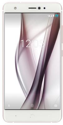 Смартфон BQ Aquaris X (32+3GB) белый/розовый перламутр, 5.2'' 1920x1080, 2.2GHz, 8 Core, 3GB RAM, 32GB, up to 256GB flash, 16Mpix/8Mpix, 2 Sim, 2G, 3G, LTE, BT, Wi-Fi, NFC, GPS, Glonass, 3000mAh, Android 7.1.1, 153g, 146.5x72.7x7.9