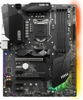 Материнская плата MSI H370 GAMING PRO CARBON Socket 1151 v2 H370 4xDDR4 2xPCI-E 16x 3xPCI-E 1x 6 ATX Retail материнская плата msi h370 gaming pro carbon