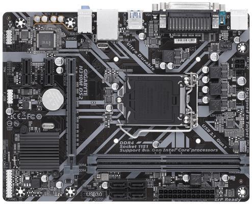 Мат. плата для ПК GigaByte H310M DS2 Socket 1151 v2 H310 2xDDR4 1xPCI-E 16x 2xPCI-E 1x 4 mATX Retail
