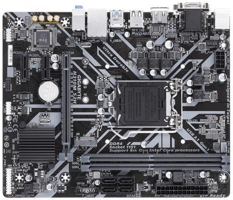 Мат. плата для ПК GigaByte H310M S2H Socket 1151 v2 H310 2xDDR4 1xPCI-E 16x 2xPCI-E 1x 4xSATAIII mATX Retail мат плата для пк gigabyte b360m h socket 1151 v2 b360 2xddr4 1xpci e 16x 1xpci e 1x 4xsataiii matx retail