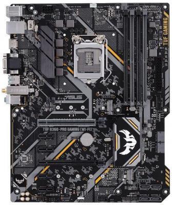 Материнская плата ASUS TUF B360-PRO GAMING (WI-FI) Socket 1151 v2 B360 4xDDR4 2xPCI-E 16x 4xPCI-E 1x 6 ATX Retail материнская плата asus tuf z390 pro gaming