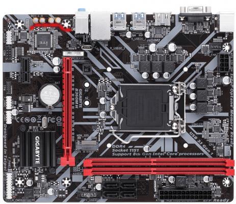 Мат. плата для ПК GigaByte B360M H Socket 1151 v2 B360 2xDDR4 1xPCI-E 16x 1xPCI-E 1x 4xSATAIII mATX Retail материнская плата gigabyte ga h81m s1 v2 2 socket 1150 h81 2xddr3 1xpci e 16x 2xpci e 1x 2xsata ii 2xsataiii matx retail