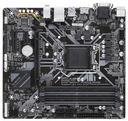 Материнская плата GigaByte B360M DS3H Socket 1151 v2 B360 4xDDR4 1xPCI-E 16x 1xPCI-E 1x 1xPCI-E 4x 6 mATX Retail gigabyte b360m ds3h