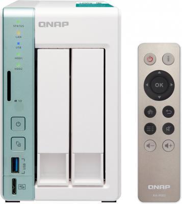 Сетевое хранилище QNAP TS-251A-4G 2x2,5 / 3,5 рэковое сетевое хранилище rack nas qnap ts 251a 2g ts 251a 2g