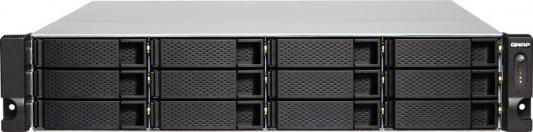Сетевое хранилище QNAP TS-1263U-4G 12x2,5 / 3,5 рэковое сетевое хранилище rack nas qnap ts 463u rp 4g ts 463u rp 4g