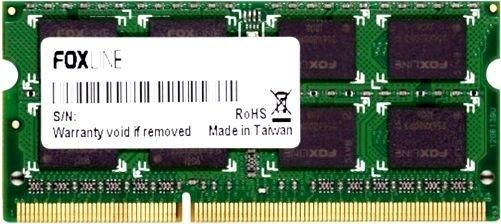 Оперативная память для ноутбуков SO-DDR4 8Gb PC4-19200 2400MHz DDR4 DIMM Foxline FL2400D4S17S-8G