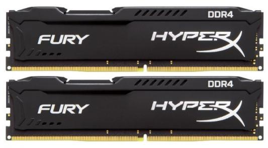 Оперативная память 16Gb (2x8Gb) PC4-27700 3466MHz DDR4 DIMM CL19 Kingston HX434C19FB2K2/16 модуль памяти kingston hyperx fury white ddr4 dimm 3466mhz pc 27700 cl19 16gb hx434c19fw 16