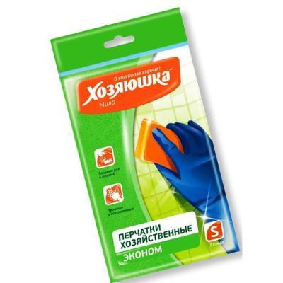 ХОЗЯЮШКА Мила Перчатки латексные ЭКОНОМ размер S