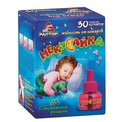РАПТОР Некусайка Жидкость от комаров для детей 30 ночей жидкость raid д электрофумигатора 30 ночей