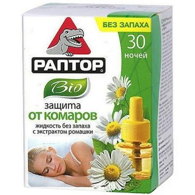 РАПТОР Жидкость от комаров BIO с экстрактом ромашки 30 ночей жидкость от комаров раптор bio с экстрактом ромашки 30 ночей