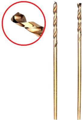 Сверло HAMMER Flex 202-501 DR CO 1,00мм*34мм кобальт M35, DIN338, HRC65-70 2шт сверло hammer flex 202 510 dr co 5 50мм 93мм кобальт m35 din338 hrc65 70