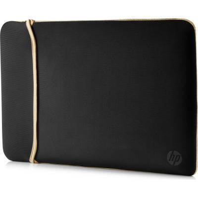 Чехол для ноутбука 14 HP 2UF59AA неопрен золотистый черный чехол для ноутбука 15 6 hp 2uf60aa неопрен черный золотистый