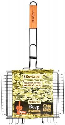 BOYSCOUT Решетка-гриль универсальная с антипригарным покрытием 62 5x30x25x5,5cм решетка для гамбургеров boyscout 61346