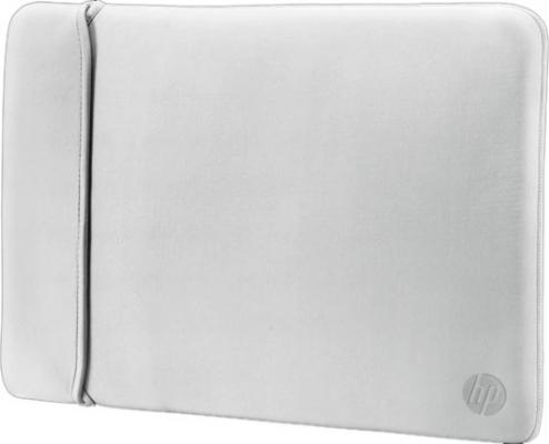Чехол для ноутбука 14 HP 2UF61AA неопрен черный серебристый чехол для ноутбука 17 hp carry sleeve черный серебристый