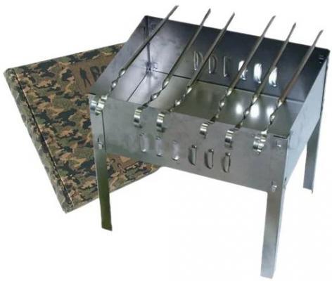 BOYSCOUT Мангал 350*250*350*0,5мм сборный 6 шампуров в картонной коробке hot pot мангал 300х240х300 мм сборный без шампуров в коробке 20