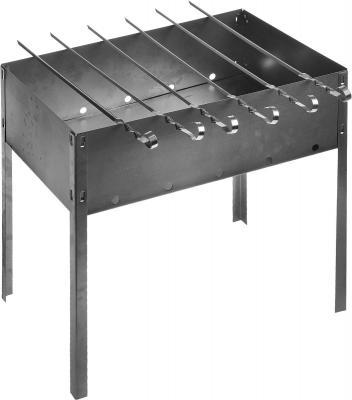 BOYSCOUT Мангал 50х30х50см сборный 6 шампуров в картонной коробке hot pot мангал 300х240х300 мм сборный без шампуров в коробке 20