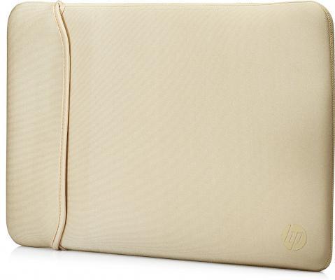 Чехол для ноутбука 15.6 HP 2UF60AA неопрен черный золотистый чехол для ноутбука 15 6 hp 2uf60aa неопрен черный золотистый