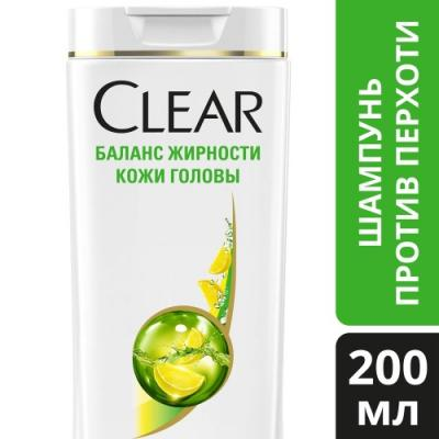 Шампунь Clear Баланс жирности кожи головы 200 мл