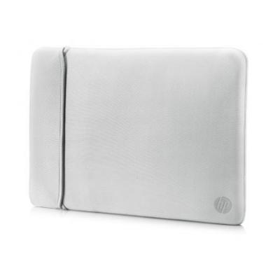 Чехол для ноутбука 15.6 HP 2UF62AA неопрен серебристый черный чехол для ноутбука 17 hp carry sleeve черный серебристый