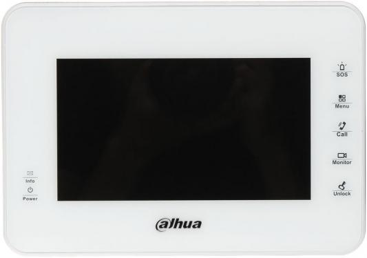 IP монитор видеодомофона Dahua DHI-VTH1560BW 7&quot, 800x480 4Gb белый