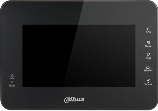 IP монитор видеодомофона Dahua DH-VTH1560B 7 800x480 4Gb черный