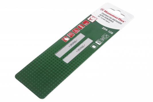 Пилка для лобзика Hammer Flex 204-128 JG MT T318A  тонкий металл, 110мм, шаг 1.2, HSS, 2шт.