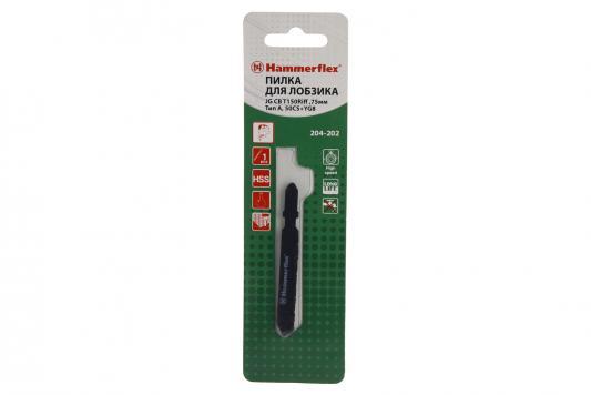 Купить Пилка для лобзика Hammer Flex 204-202 JG CB T150Riff твердые материалы, 75мм, Тип А, 50CS+YG8