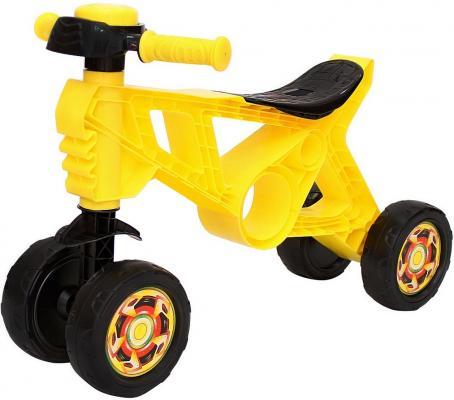 Каталка-беговел четырёхколёсный RT Самоделкин желтый ОР188 неисправное оборудование каталка беговел rt самоделкин пластик от 1 года на колесах бирюзовый