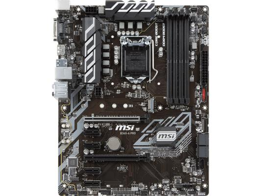 Материнская плата MSI B360-A PRO Soc-1151v2 Intel  4xDDR4 ATX AC`97 8ch(.) GbLAN RAID+DVI+DP