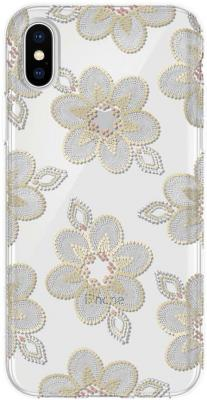 Накладка Incipio Design Series Classic - Beaded Floral для iPhone X рисунок IPH-1651-BFL protective flower pattern plastic back case for iphone 4 4s multicolored