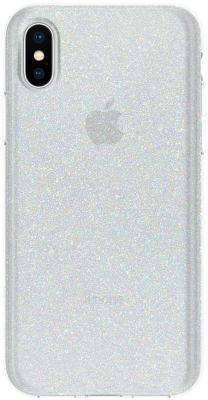 Накладка Incipio Design Series Classic - White Glitter для iPhone X белый IPH-1651-WTG glitter criss cross design sandals