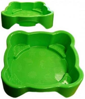 Песочница-бассейн PalPlay квадратная 374/green песочница бассейн marian plast palplay лодочка желтый 308