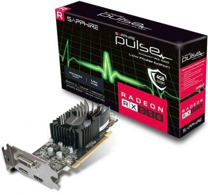 Видеокарта Sapphire Radeon RX 550 11268-09-20G PCI-E 4096Mb 128 Bit Retail (11268-09-20G) видеокарта sapphire 21275 02 20g