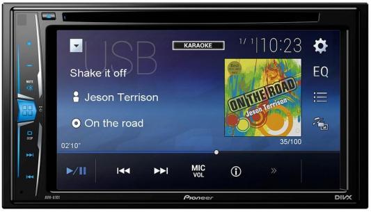 Автомагнитола Pioneer AVH-A101-K USB MP3 CD DVD FM RDS 2DIN 4x50Вт черный сабвуфер pioneer ts w106m 250вт 1100вт 4ом