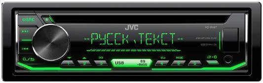 Автомагнитола JVC KD-R497 USB MP3 CD FM RDS 1DIN 4x50Вт черный автомагнитола jvc kd r577 usb mp3 cd fm 1din 4x50вт черный