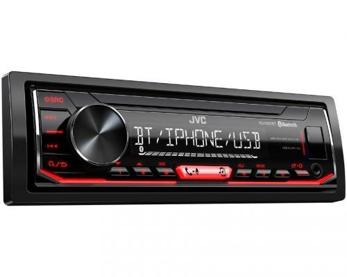 Автомагнитола JVC KD-X352BT USB MP3 FM RDS 1DIN 4x50Вт черный автомагнитола kenwood kmm 103ay usb mp3 fm 1din 4х50вт черный