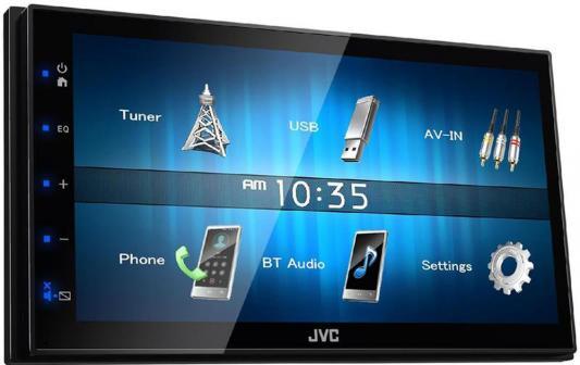 Автомагнитола JVC KW-M24BT USB MP3 FM RDS 2DIN 4x50Вт черный 2 din car video player 7 2din car dvd mp4 mp5 player gps navigation fm rds usb bluetooth remote control rear view camera