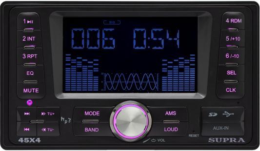 Автомагнитола Supra SFD-2020DD USB MP3 FM 2DIN 4x45Вт черный автомагнитола usb sd supra sfd 121usc