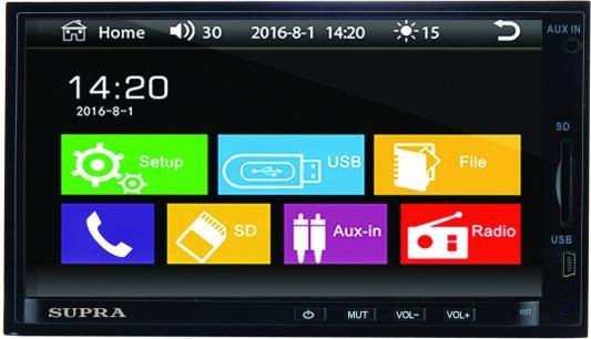 Автомагнитола Supra STM-71 USB MP3 FM 2DIN 4x45Вт черный автомагнитола usb sd supra sfd 121usc