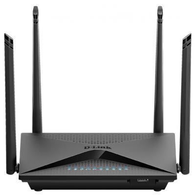 Беспроводной маршрутизатор D-Link DIR-853/ACR/A1A 802.11abgnac 1267Mbps 5 ГГц 2.4 ГГц 4xLAN черный беспроводной маршрутизатор d link dir 878 802 11aс 1900mbps 2 4 ггц 5 ггц 4xlan черный