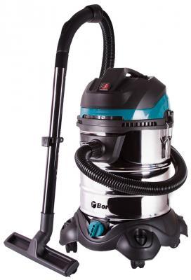 купить Промышленный пылесос BORT BSS-1425-PowerPlus сухая влажная уборка чёрный синий серебристый по цене 5730 рублей