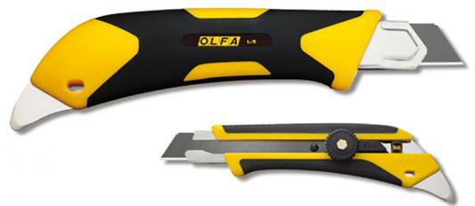 Нож Olfa двухкомпонентный корпус трещоточный фиксатор 18мм OL-L-5 цены