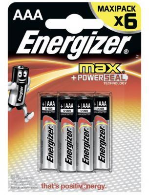 ENERGIZER Батарейка алкалиновая MАХ LR03/E92 тип ААА 6шт батарейка energizer alkaline power aaa алкалиновая 8 шт