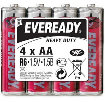 ENERGIZER Батарейка солевая Eveready R6 тип АА 4шт energizer аккумулятор universal тип аа 1300mah 4шт