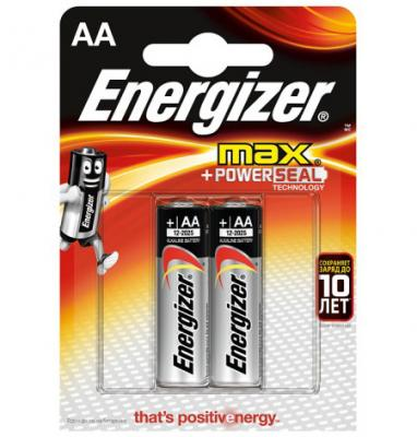 ENERGIZER Батарейка алкалиновая MАХ LR6/E91 тип АА 2шт батарейка energizer maximum lr6 e91 fsb2 aa