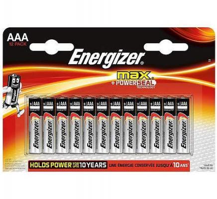 ENERGIZER Батарейка алкалиновая MАХ LR03/E92 тип ААА 12шт