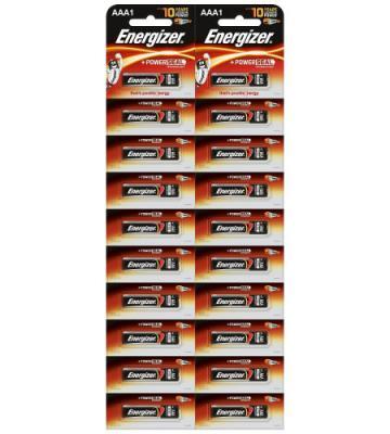 ENERGIZER Батарейка алкалиновая Power LR03/E92 тип ААА 20шт