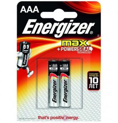 ENERGIZER Батарейка алкалиновая MАХ LR03/E92 тип ААА 2шт
